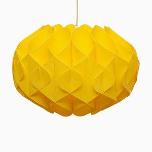 Gelbe Deckenlampe aus Kunststoff, 1970er