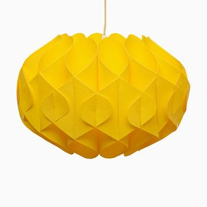 Yellow Plastic Ceiling Lamp, 1970s