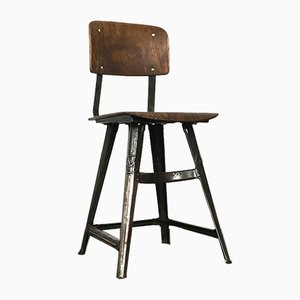 Industrial Dining Chair by Robert Wagner for Rowac, 1920s