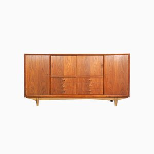 Danish Teak Highboard with Drawers, 1960s