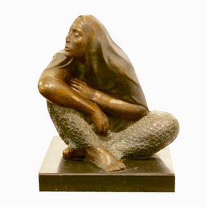Sculpture La Esperanza en Bronze par Victor Castaneda, 1980s