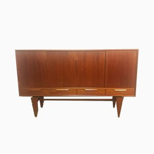 Mid-Century Danish Teak Highboard by Axel Christensen for Odder Møbler, 1960s