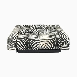 Model Oblique Sofa with Zebra Fabric by Mario Botta for Alias, 1983