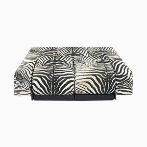 Modell Oblique Sofa mit Zebramuster von Mario Botta für Alias, 1983