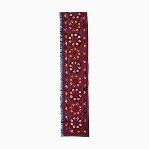 Handgefertigte extralange Vintage Suzani Decke