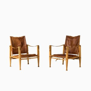 Safari Lounge Chairs by Kaare Klint for Rud. Rasmussen, 1960s, Set de 2