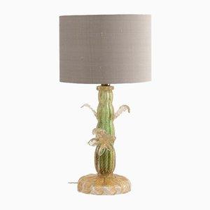 Italian Murano Glass Cactus Table Lamp by Barovier & Toso, 1950s