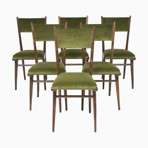 Italienische Esszimmerstühle mit Hoher Rückenlehne von Ico & Luisa Parisi, 1950er, 6er Set