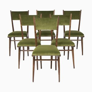Italienische Esszimmerstühle mit Hoher Rückenlehne von Ico Parisi, 1950er, 6er Set