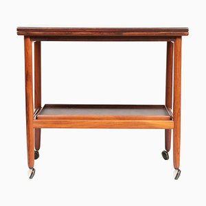 Danish Rosewood Folding Top Serving Trolley from Arrebo Møbler, 1960s