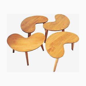 Mid-Century Kidney Shaped Side Tables, Set of 4