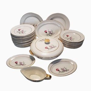 Ceramic Dinner Set from Manufacture d'Orchies, 1950s, Set of 37