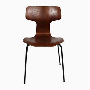 Model 3103 Hammer Dining Chairs by Arne Jacobsen for Fritz Hansen, 1960s, Set of 6