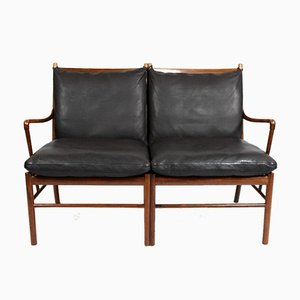 Rosewood OW149-2 Colonial 2-Seat Sofa by Ole Wanscher for P. Jeppesens Møbelfabrik, 1960s