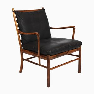 Rosewood PJ149 Colonial Easy Chairs by Ole Wanscher for P. Jeppesens Møbelfabrik, 1960s, Set of 2