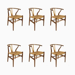 Armchairs by Hans J. Wegner for Carl Hansen & Søn, 1960s, Set of 6