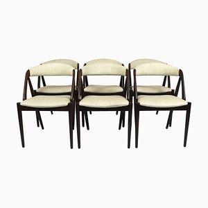 Modell 31 Esszimmerstühle von Kai Kristiansen für Andersen Møbelfabrik, 1960er, 6er Set