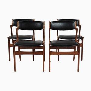 Dänische Palisander Esszimmerstühle von Nova Furniture, 1960er, Set of 4