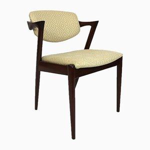 Palisander Modell 42 Esszimmerstühle von Kai Kristiansen für Andersen Møbelfabrik, 1960er, 4er Set