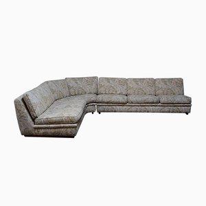 Swedish Floral Fabric Modular Sofa Set from Dux, 1970s