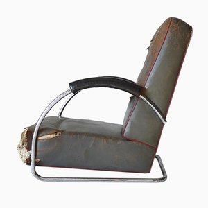 Modernistischer Niedriger Französischer Sessel, 1930er