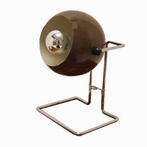 Scandinavian Brown Sphere Table Lamp, 1960s