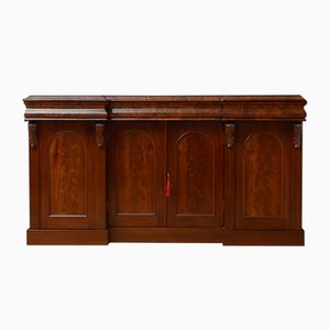 Victorian Flamed Mahogany Sideboard with 4 Doors