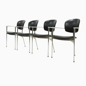Andrea Esszimmerstühle von Josep Llusca für Andreu World, 1980er, 4er Set