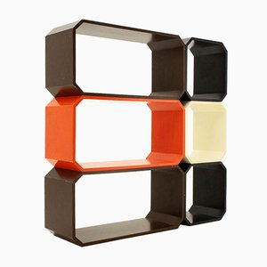 Mid-Century Italian Modernist Colored Shelf, 1960s