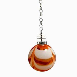 Vintage Glas Deckenlampe von Mazzega