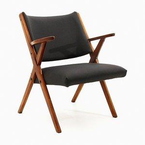 Mid-Century Italian Black Armchair from Dal Vera, 1950s