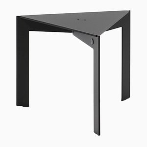 Joined T34.3 Triangular Black Side Table by Barh