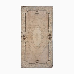 Turkish Neutral Color Distressed Oushak Rug