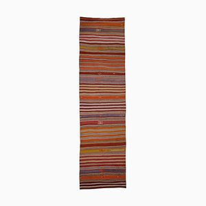 Turkish Flat Woven Tribal Kilim Runner Rug