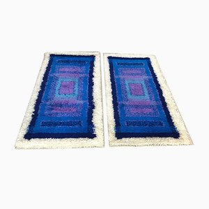 German Pure Wool Abstract Graphic Art Rugs from Gilde, 1960s, Set of 2