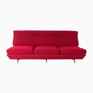 Mid-Century Red Fabric Sleep-o-Matic Sofa Bed by Marco Zanuso, 1954