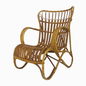 Vintage Sessel aus Rattan & Bambus von Rohé Noordwolde, 1950er