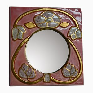 Floral Mirror by François Lembo for Vallauris, 1960s