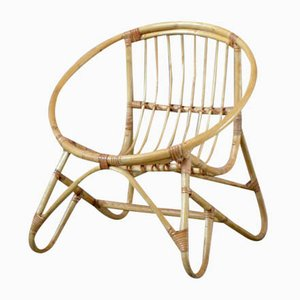 Rattan Shell Childrens Chair, 1970s