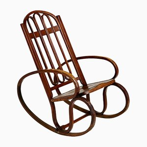 Antique Bentwood Rocking Chair by Gustav Siegel, 1900s
