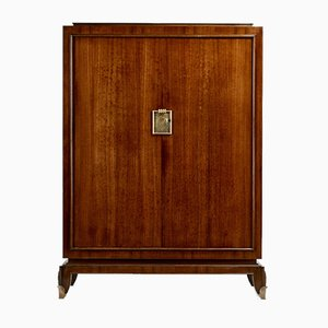 Rosewood and Gilt Bronze Wardrobe by Jean Pascaud, 1940s