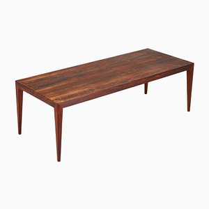 Minimalist Danish Rosewood Coffee Table by Severin Hansen for Haslev Møbelsnedkeri, 1960s