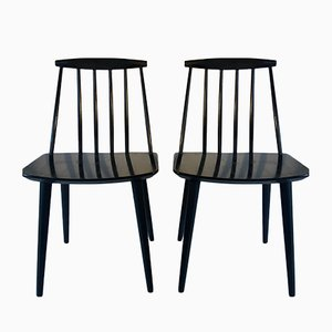 Danish Model J77 Dining Chairs by Folke Palsson for FDB Mobler, 1966, Set of 2