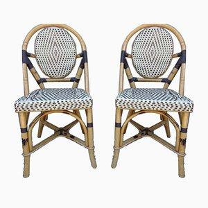 Chaises de Bureau Vintage en Bambou, 1970s, Set de 2