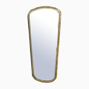Large German Handmade Brass Mirror from Vereinigte Werkstätten Collection, 1960s
