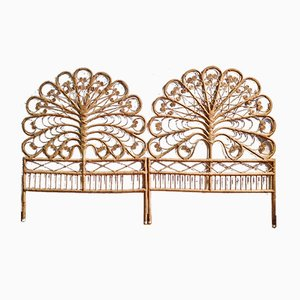 Wicker Room Dividers from Pons Leyva, 1960s, Set of 2