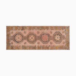 Handgeknüpfter türkischer Geometrischer Oushak Teppich mit Gedämpfter Gemüsefärbung