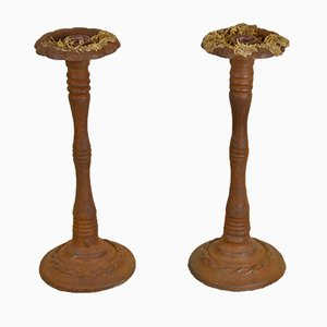Iron Candleholders, 1940s, Set of 2