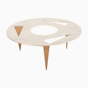 Vintage Solid Steel Model Reisser Side Table by Christian Müller for Ulyssimo Möbeldesign, 1980s