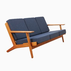 Solid Teak Model GE-290 Sofa by Hans J. Wegner for Getama, 1950s